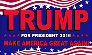 Quality Standard Flags Trump for President 2016 - Make America Great Again - 3'x5' Polyester Flag