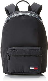Tommy Hilfiger Men's Colour-Blocked Dome Backpack, Black, One Size