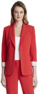 Women's 2 Button Roll Sleeve Jacket