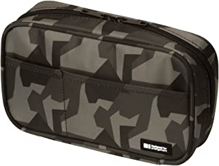 LIHIT LAB Zipper Pen Case, 7.9 × 2 × 4.7 inches, Green Camouflage (A7551-131)
