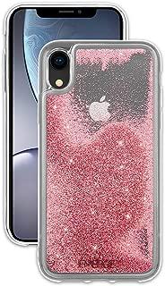EMERGE - iPhone XR Glitter Case - SNOW GLOBE - Flowing Liquid Glitter - Pink (Renewed)