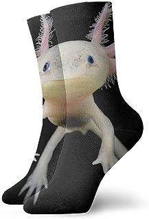 Ajolote Calcetines cortos transpirables Calcetines clásicos de algodón de 30 cm para hombres Mujeres Yoga Senderismo Ciclismo