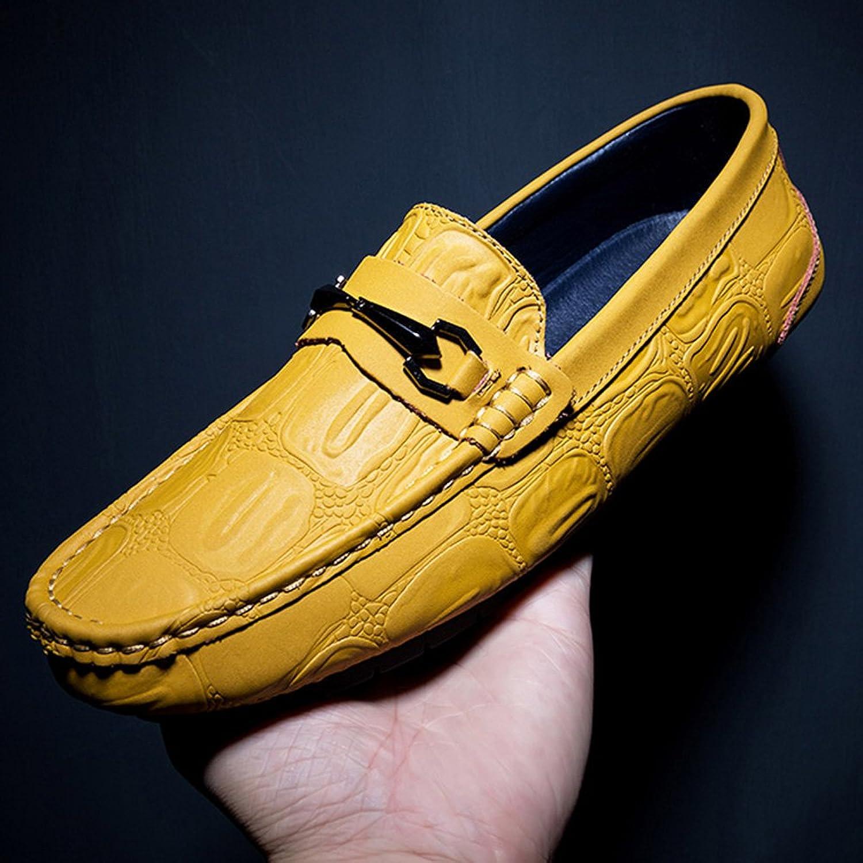 Men's shoes FEIFEI Casual Fashion Soft Comfortable Breathable Lazy shoes (color   Yellow, Size   EU40 UK7 CN41)