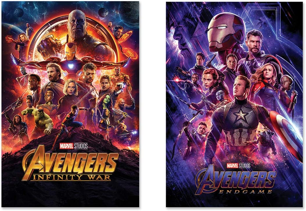 Amazon Com Poster Stop Online Avengers Infinity War Endgame 2 Piece Marvel Movie Poster Set Regular Styles Size 24 X 36 Each Posters Prints