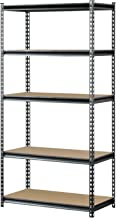Muscle Rack UR361872PB5PAZ-SV Silver Vein Steel Storage Rack, 5 Adjustable Shelves, 4000 lb. Capacity, 72