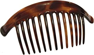 Parcelona France Arch Extra Large Tortoise Brown Shell 13 Teeth Interlocking Side Hair Comb Pair