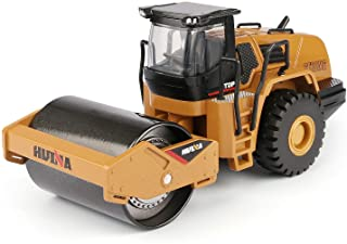 duturpo 1/50 Scale Diecast Road Roller Toy, Metal Construction Vehicles Model Toy for Kids (Road Roller)