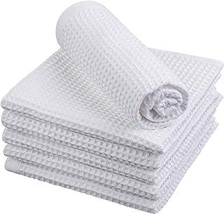 Sponsored Ad - ADXCO 6 Packs Premium Cotton Waffle Towel, Waffle Weave Bath Towel Kitchen Dish Towel Super Soft Absorbent ...