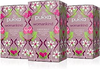 Pukka Womankind, Organic Herbal Tea with Shatavari, Cranberry & Rose Flower (3 Pack, 60 Tea Bags)