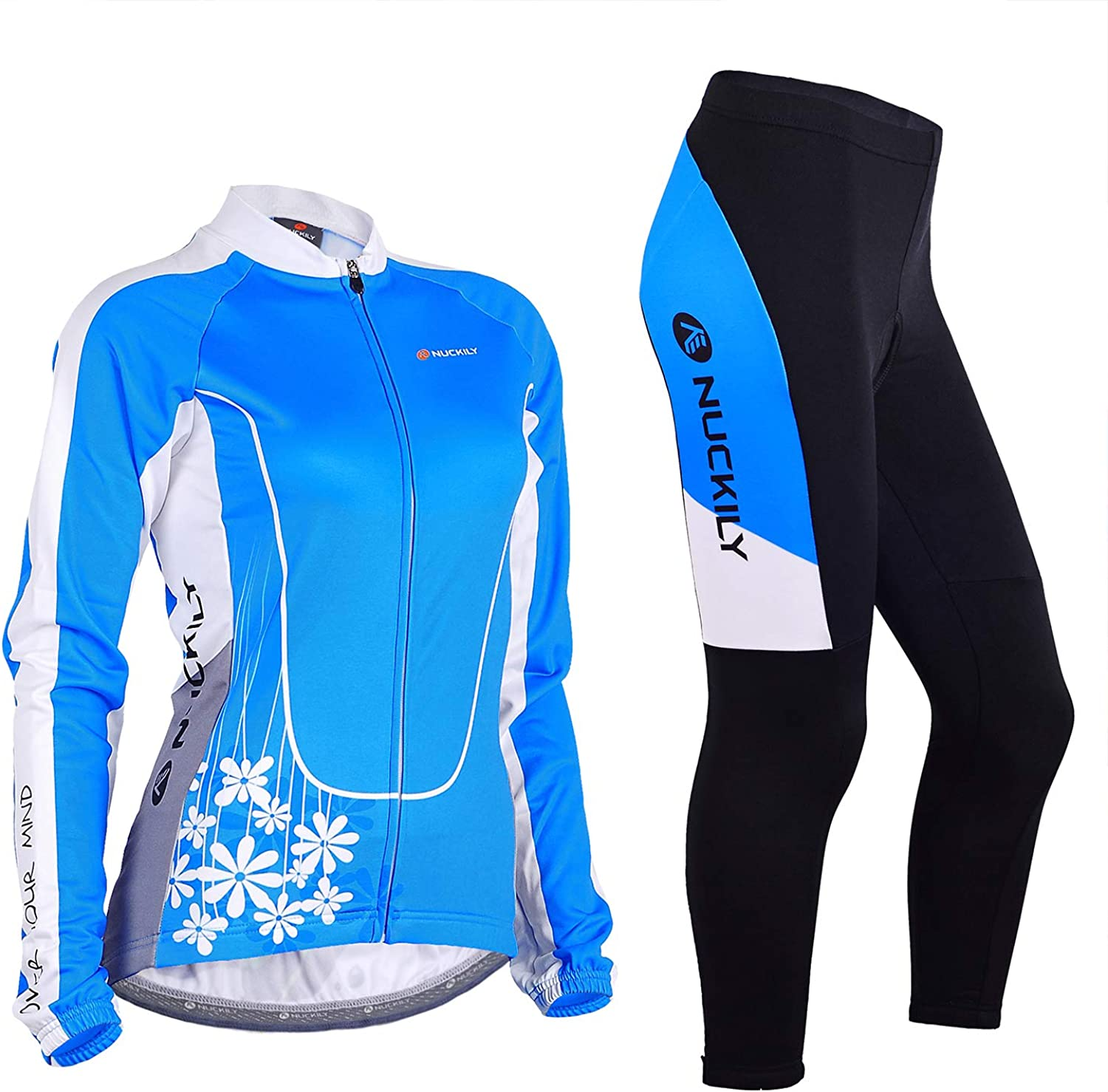 NUCKILY Women's Thermal Fleece Cycling 使い勝手の良い Jersey Sleeve Suits 贈呈 Long