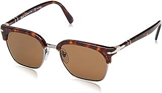 Persol - 24/57 Gafas de sol, Rectangulares, Polarizadas, 52, Havana