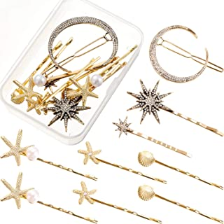 9 Pieces Bobby Hair Pins Hair Clips Hair Barrettes Hair Accessories with Storage Box for Women and Girls