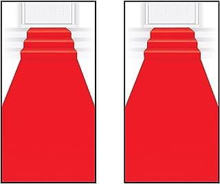 """Beistle S50087AZ2 Red Carpet Runners 2 Piece, 24"""" x 15',"""
