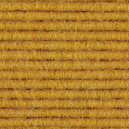 Teppichboden Auslegware | Tretford Interland | 200 cm Breite | gelb 568 | Meterware, verschiedene Größen | Größe: 1,5 x 2m