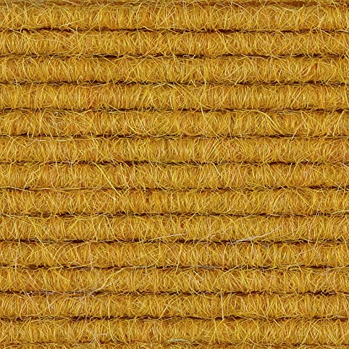 Teppichboden Auslegware | Tretford Interland | 200 cm Breite | gelb 568 | Meterware, verschiedene Größen | Größe: 1,75 x 2m