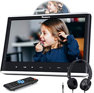 "NAVISKAUTO 12"" Car DVD Player with HDMI Input Headphone Mounting Bracket HD Screen Support Sync Screen Last Memory Region ..."