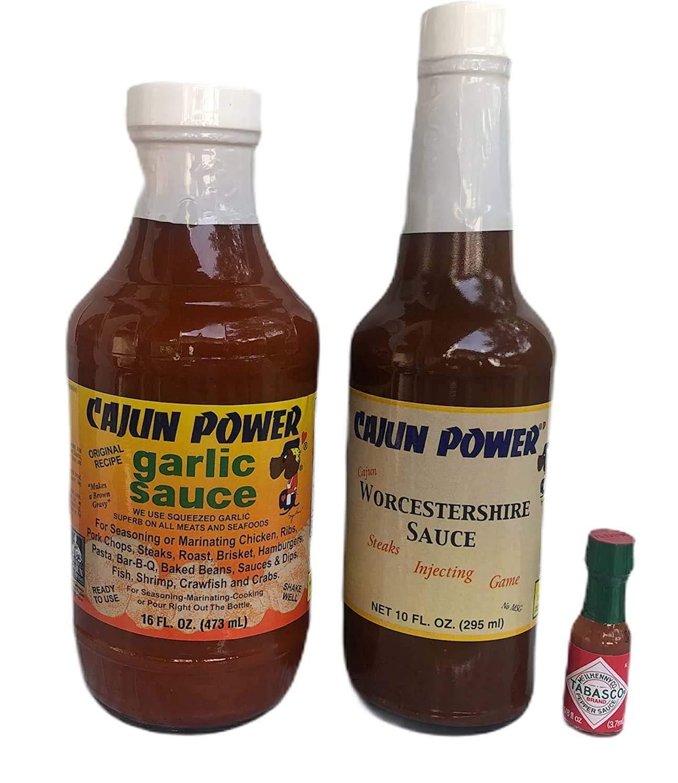 Spasm price Cajun Power At the price Garlic Sauce and Worcestershire Peppe Tabasco