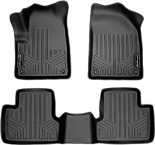 SMARTLINER Custom Fit Floor Mats 2 Row Liner Set Black for 2014-2021 Jeep Cherokee - All Models