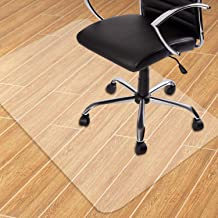 GeeWin Home Office Chair Mat for Hardwood Floor, 30'' x 48'' Clear Floor Mat for Rolling Chairs, Floor Protector Thick Dur...
