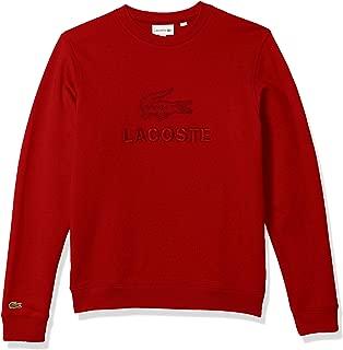 Lacoste Mens Long Sleeve Graphic Fleece Sweatshirt