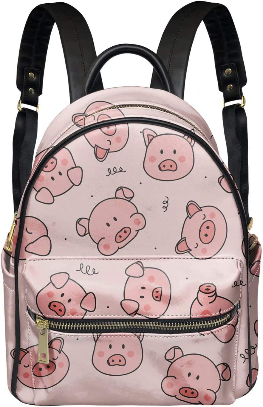 Snilety Lovely Pink Houston Mall Pig Pattern Backpack Satch Women Design Animer and price revision for
