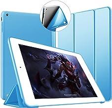VAGHVEO Funda para iPad 2/3 / 4, Ultra Slim Protectora Silicona Smart Cover [Auto-Sueño/Estela] Cubierta Trasera de Silicona Suave TPU Case para Apple iPad 2, iPad 3, iPad 4 Tableta, Azul