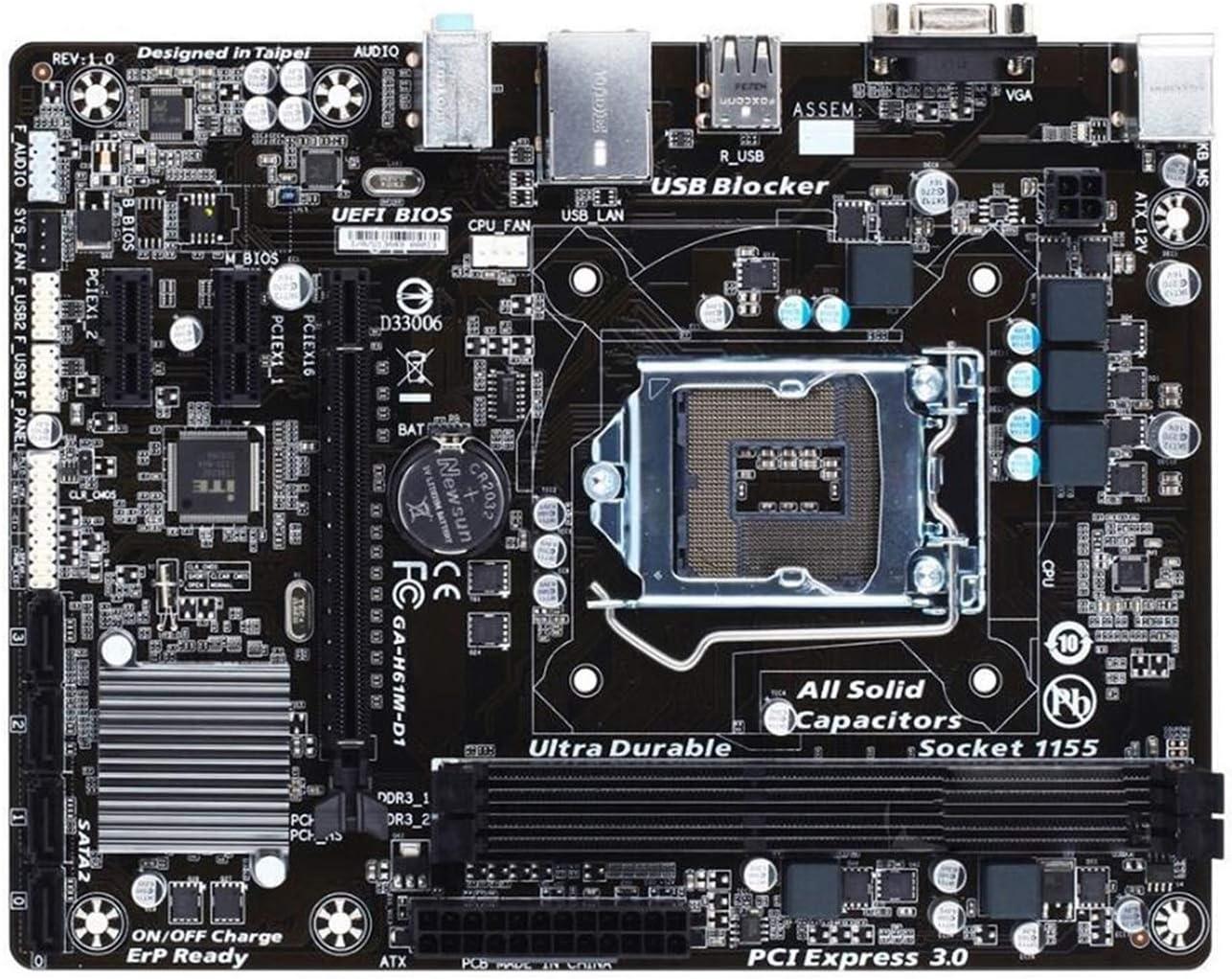 New arrival KOREY Max 83% OFF Desktop Motherboard Fit GA-H61M-D Gigabyte for