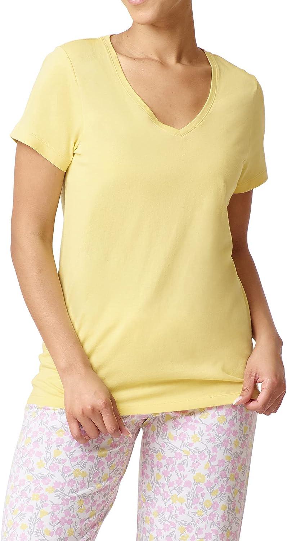HUE Women's Short Sleeve Sleep Bombing new work Tee Max 65% OFF V-Neck