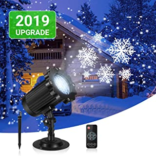Snowfall LED Light Projector, Projector Christmas Lights Waterproof Snow Falling Projector Lamp with Remote Control Holiday Projector Lights Outdoor for Halloween Party Wedding Garden Decorations