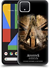 Official Assassin's Creed Gold Shilling Necklace Syndicate Logo Art Hard Back Case Compatible for Google Pixel 4 XL
