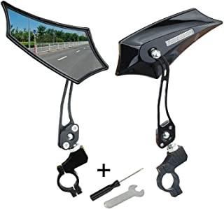 Tiny Chou Bike Mirror,Bicycle Mirror Handlebar Mount,360° Adjustable Rotatable Safe Rear View Glass Mirror for Mountain Road Bike, Electric Bike, Motorcycle,Cycling with 2 Free Tools,1 Pair Pack
