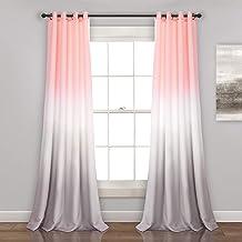 طقم ستائر معتمة للنافذة من قماش مزخرف مزخرف ورمادي رمادي اللون للمعيشة وغرفة الطعام وغرفة النوم (زوج)، 95 بوصة × 52