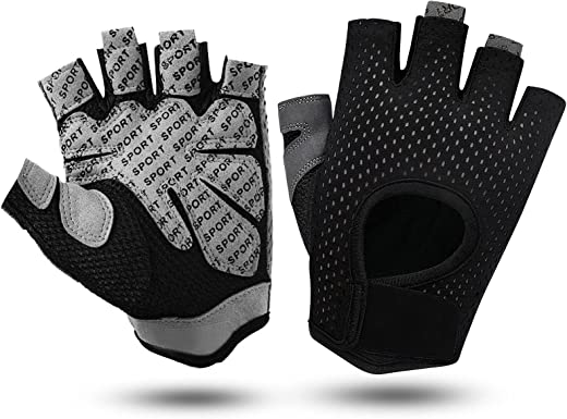 Workout Gloves Mens&Womens,Weight Lifting Gym Gloves with Breathable Fabric,No-Slip Silicone Palm Protection pad and Extra Grip,Cycling Gloves for Lifting, Fitness,Exercise, Training, Hanging,Pull up