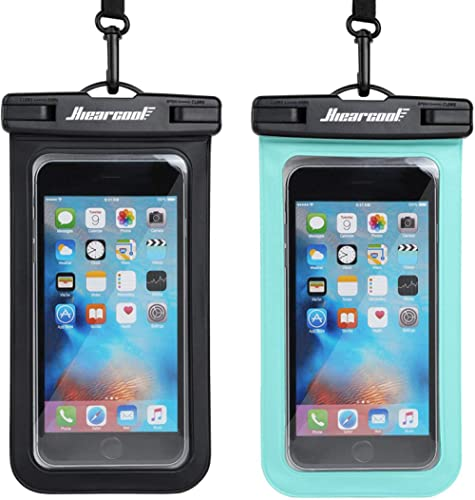 Hiearcool Universal Waterproof Case,Waterproof Phone Pouch Compatible for iPhone 11 Pro Max XS Max XR X 8 7 6S Plus S...