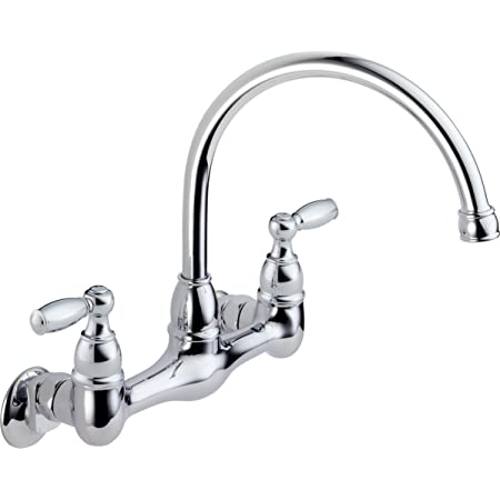 Peerless 2 Handle Wall Mount Kitchen Sink Faucet Chrome P299305lf Bar Sink Faucets Amazon Com