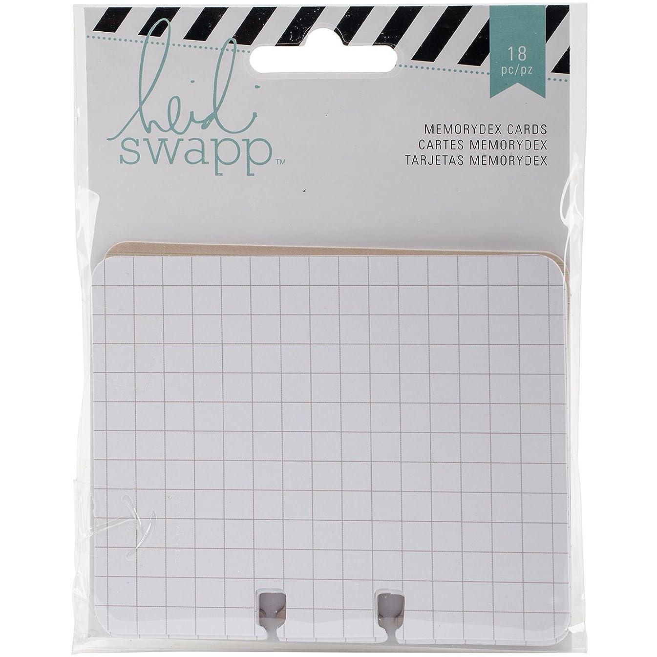 American Crafts 369325 Memorydex Cards 18/Pkg-Wanderlust Grid, Line & Ledger/6 Each