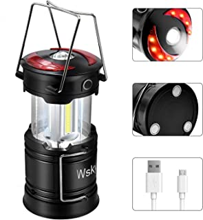 Wsky Led Camping Lantern - Best Rechargeable LED Flashlight Lantern - High Lumen, Rechargeable, 4 Modes, Water Resistant Light - Best Camping, Outdoor, Emergency Flashlights Lanterns