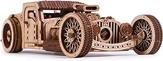 Wood Trick Hot Rod مدل چوبی برای ساخت کیت اتومبیل - سواری تا 32 فوت - بسیار دقیق و محکم - بدون باتری - پازل چوبی سه بعدی - مکانیکی