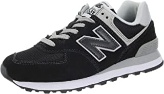 New Balance Womens WL574 Black Suede Mesh Trainers 6 US