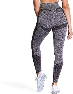 Aoxjox Women's High Waist Workout Gym 7/8 Motion Seamless Leggings Yoga Pants