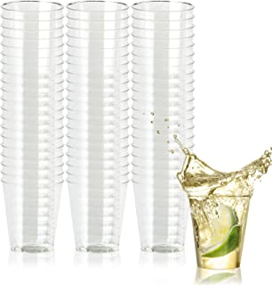500 Disposable Hard Plastic Shot Glasses, Crystal Clear 1oz(30ml) - Heavy Duty & Reusable Shot Cups - Perfect for Jello Shots Sample Food Wine Tasting Weddings Birthdays Christmas New Year.