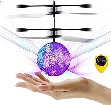 Slepwel UFO Flying Ball Magic led Light with Remote (Purple)