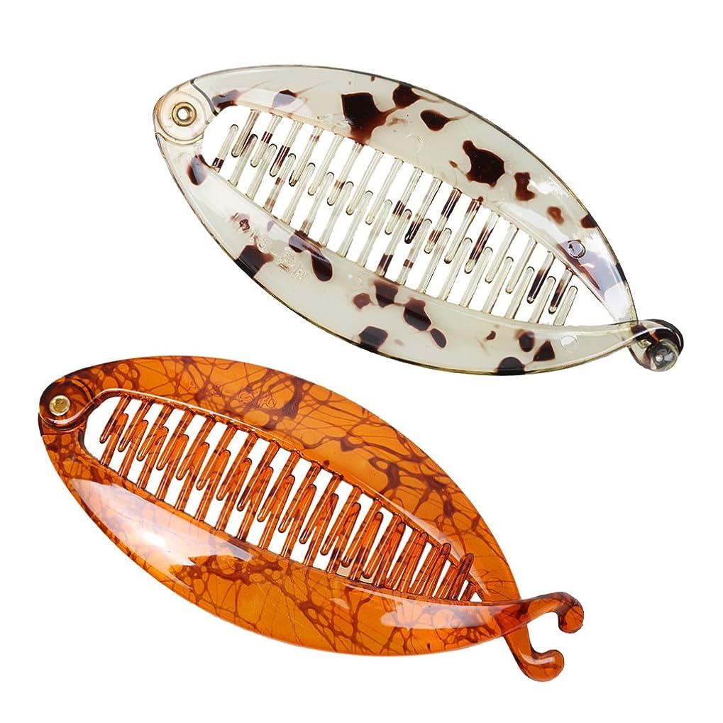 海藻規制回復するBaoblaze クリップ 魚の形 2色 樹脂 櫛 2本