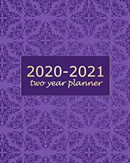 2020-2021 Two Year Planner: Purple Mandala 2 Year Monthly Planner Calendar Schedule Organizer January 2020 to December 2021 (24 Months) With Holidays and inspirational Quotes