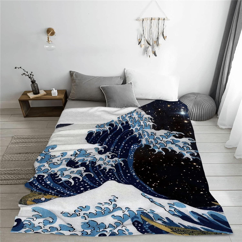 ARTIEMASTER outlet Japanese Great Wave Outdoor Louisville-Jefferson County Mall Blanket Kanagawa
