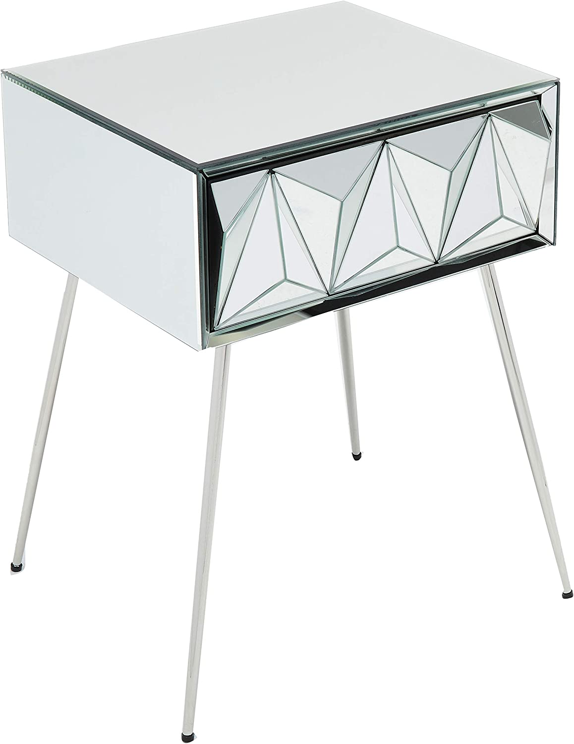 Christopher Knight Home Mag Side Table, Mirror, Silver