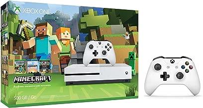 Xbox One S Console Bundle 2 items: Xbox One S 500GB Console-Minecraft Bundle, Extra Xbox Wireless Controller (White)