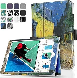 TNP New iPad 9.7 Inch 2018 2017 Case/iPad Air 1 Case - Corner Protection Premium PU Leather Folio Smart Cover w/Auto Sleep/Wake for iPad 9.7 in 2018 2017 Release, iPad Air 1 (Cafe at Night)