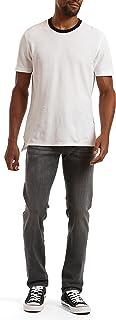 Men's Matt Mid-Rise Relaxed Straight Leg Jeans