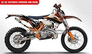 JFG RACING Custom Motorcycle Complete Adhesive Decals Stickers Graphics Kit For 2007-2010 125 144 150 250 450 505 SX SXF SX-F